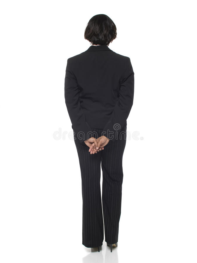 Businesswoman - back side royalty free stock photos