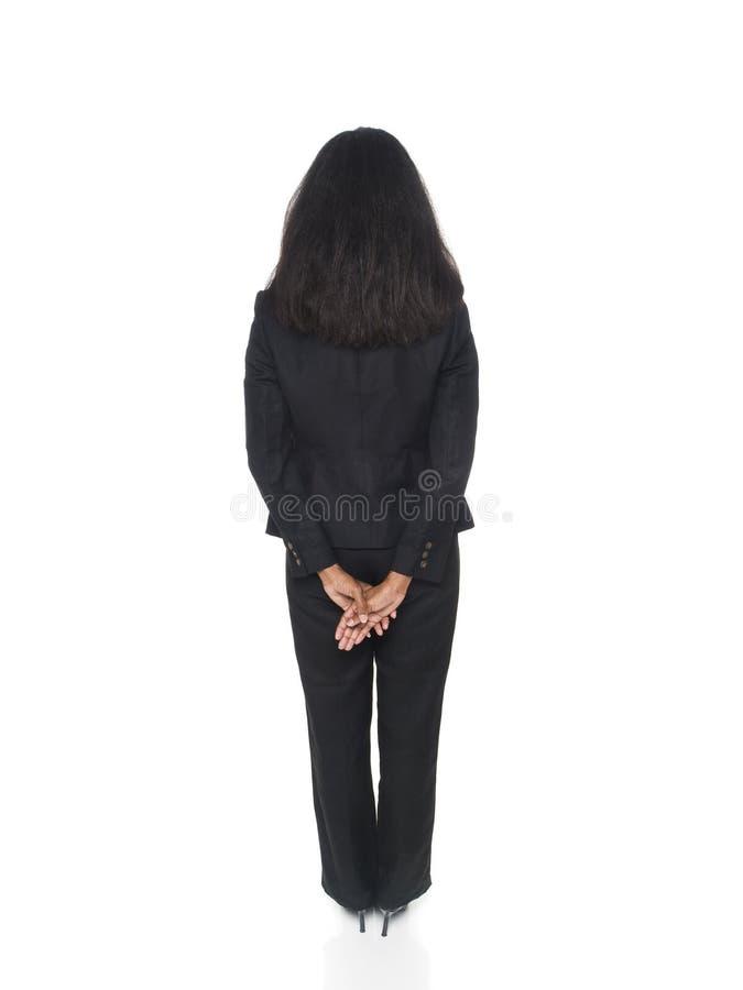 Businesswoman - backside royalty free stock photo