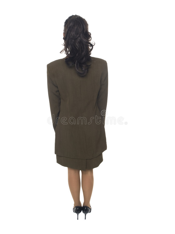 Businesswoman - backside stock images
