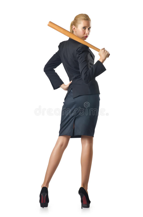 Download Businesswoman With Baseball Bat Stock Image - Image: 27047535