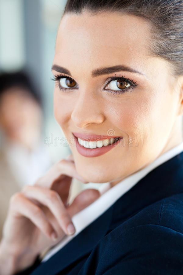 Businesswoman beauty. Beauty of a young businesswoman royalty free stock photos