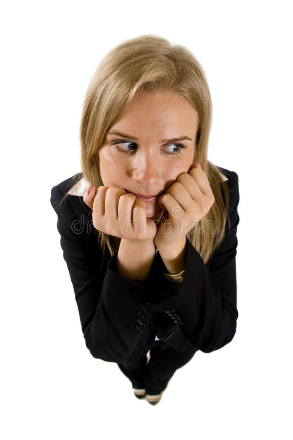 Download Businesswoman Being Worried Stock Image - Image: 13372423