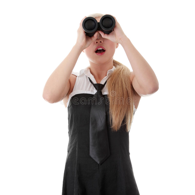 Download Businesswoman With Binocular Stock Photo - Image: 16627082