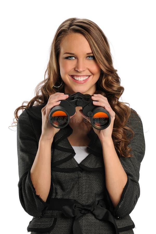 Download Businesswoman With Binoculars Stock Photo - Image of viewing, entrepreneur: 20420640