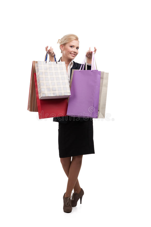 Businesswoman In A Black Suit Royalty Free Stock Photo