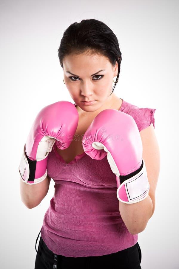 businesswoman bokserskie rękawice obrazy royalty free