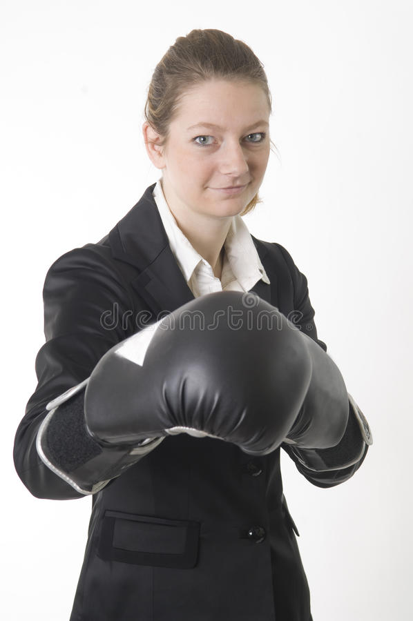 Download Businesswoman boxing stock photo. Image of suit, beautiful - 12316558