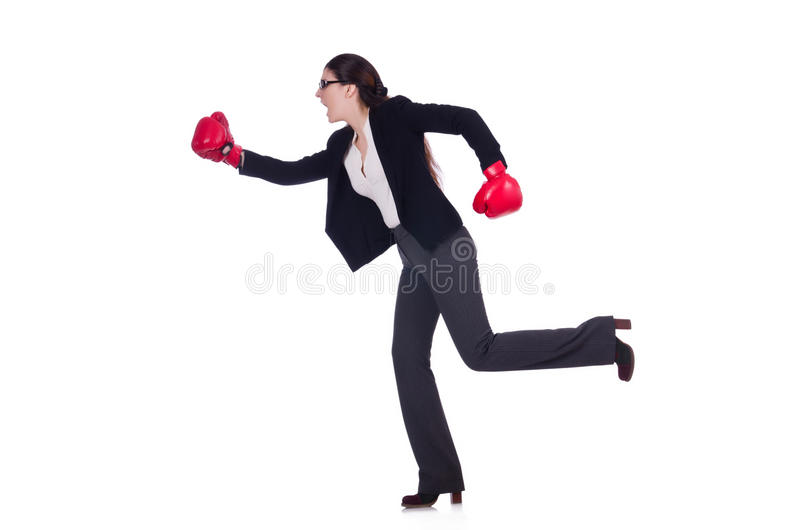 Download Businesswoman In Boxing Concept Stock Image - Image: 30834691