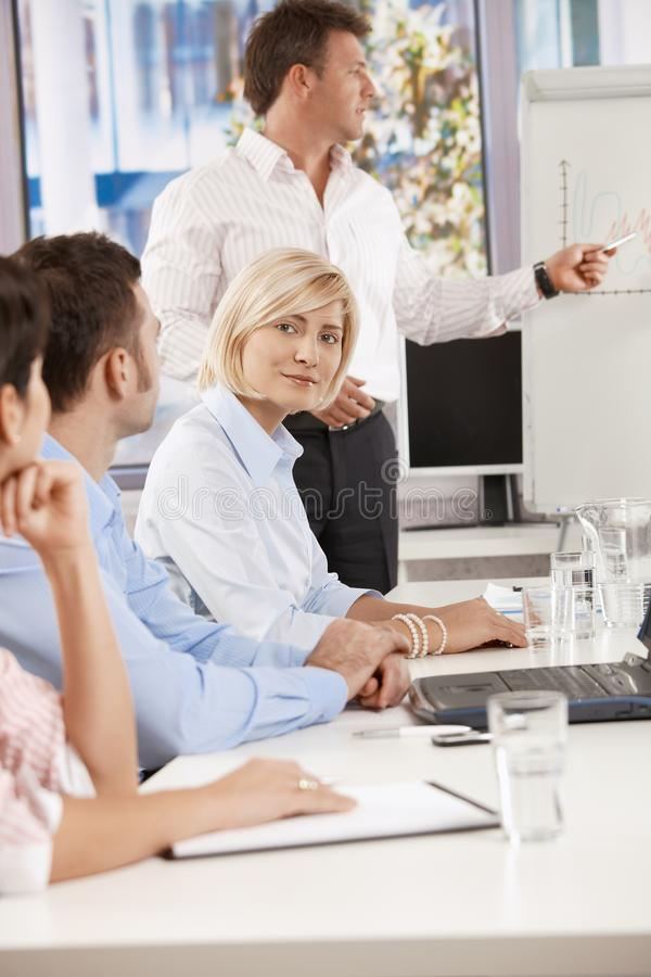 Download Businesswoman On Business Meeting Stock Image - Image: 22784725