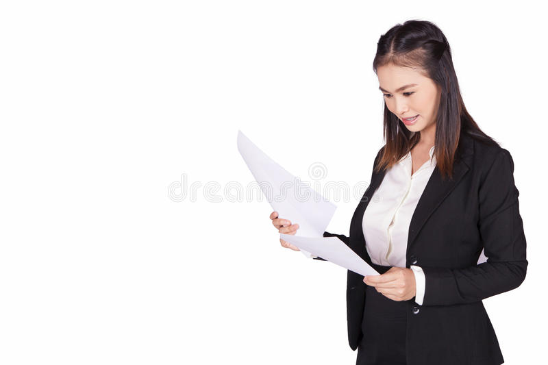Businesswoman. Business woman on white background royalty free stock photography