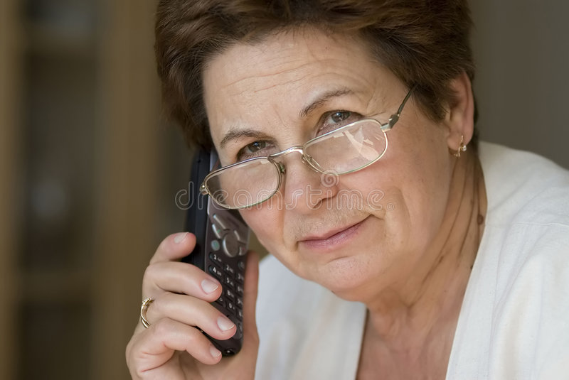 Businesswoman calling stock images