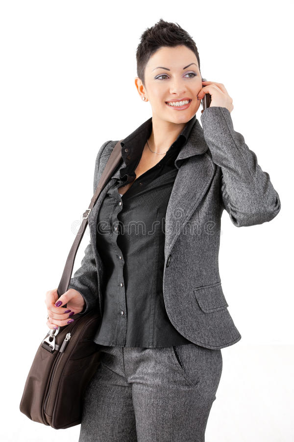 Download Businesswoman Calling On Mobile Stock Image - Image of calling, adult: 11396123