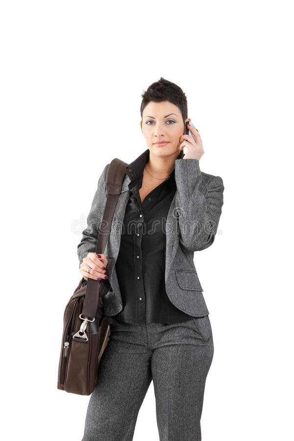 Download Businesswoman Calling On Mobile Stock Image - Image: 12711195