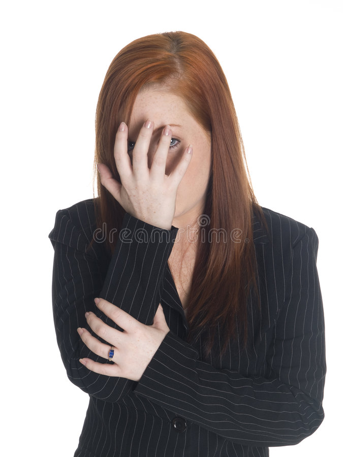 Download Businesswoman - Can't Look Royalty Free Stock Photos - Image: 6247328