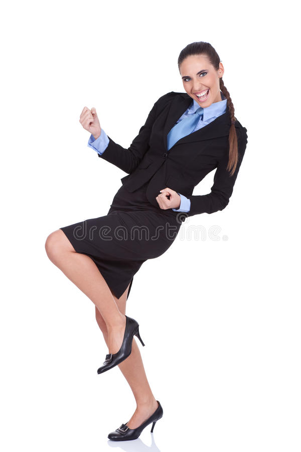 Download Businesswoman Celebrating Success Stock Image - Image of businesswoman, funny: 24783417