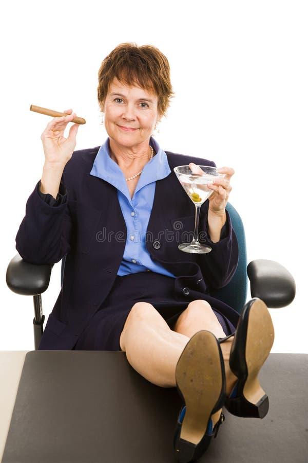 Businesswoman Celebrating Success Stock Image