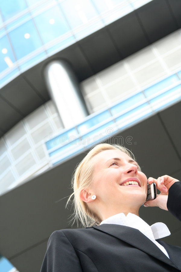 Download Businesswoman on cellphone stock photo. Image of contact - 3034086