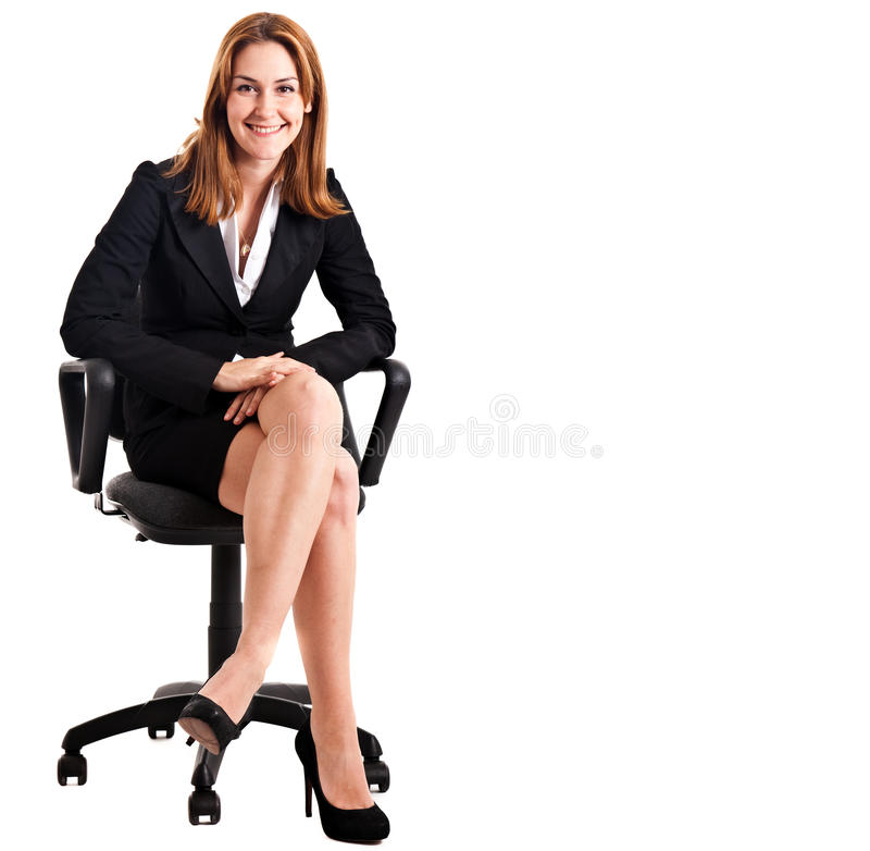 Businesswoman chair royalty free stock image