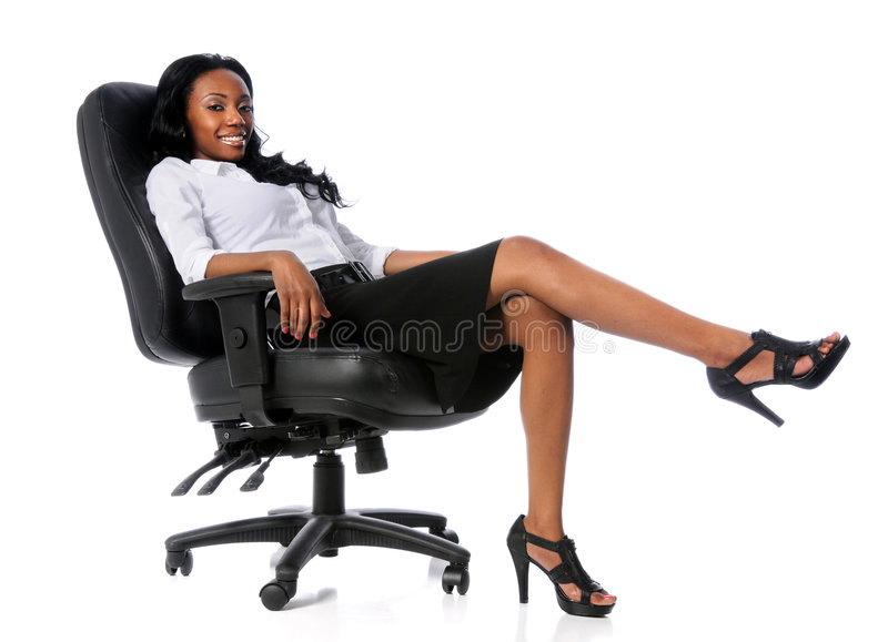 Download Businesswoman on Chair stock image. Image of attractive - 9230735