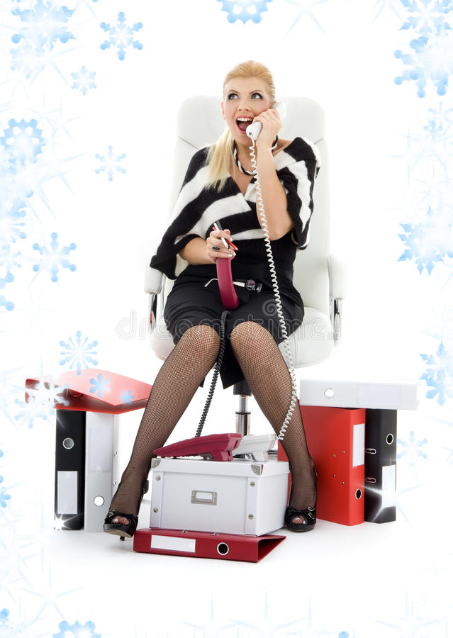 Download Businesswoman in chair stock photo. Image of assistant - 41510680