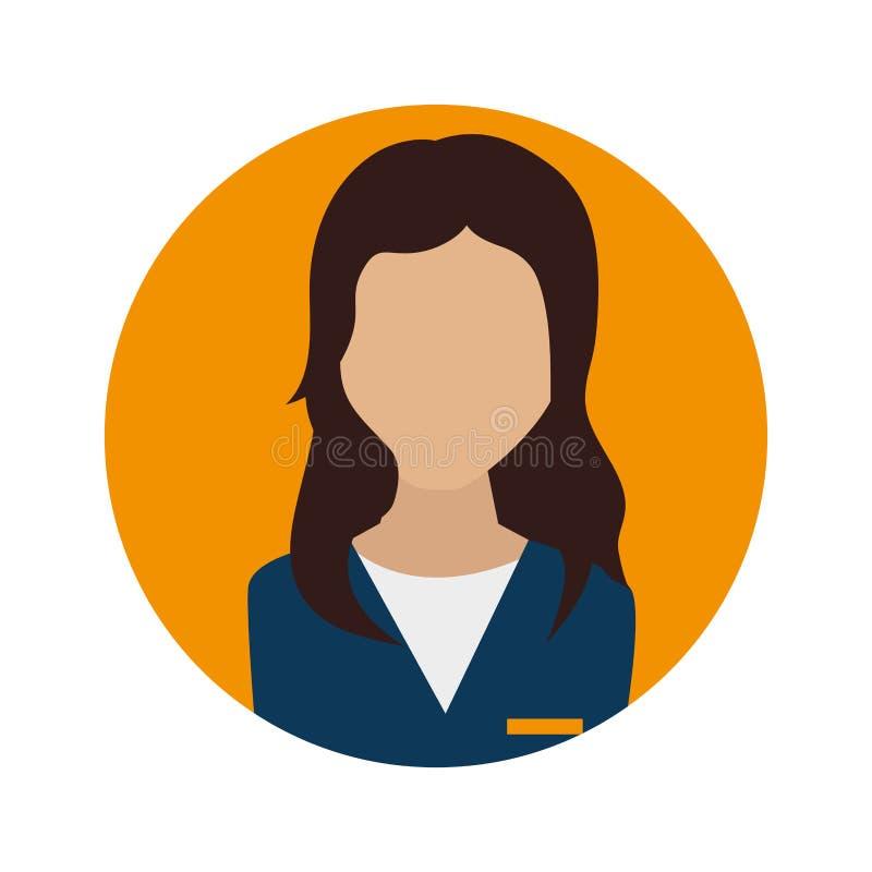 Businesswoman character avatar icon. Illustration design royalty free illustration