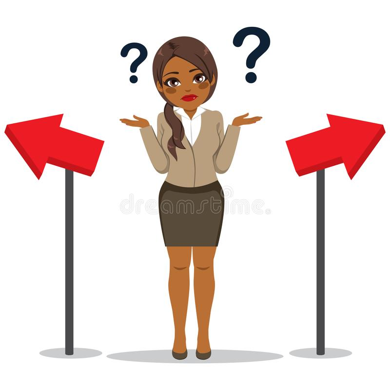 Businesswoman Choosing Way Concept vector illustration