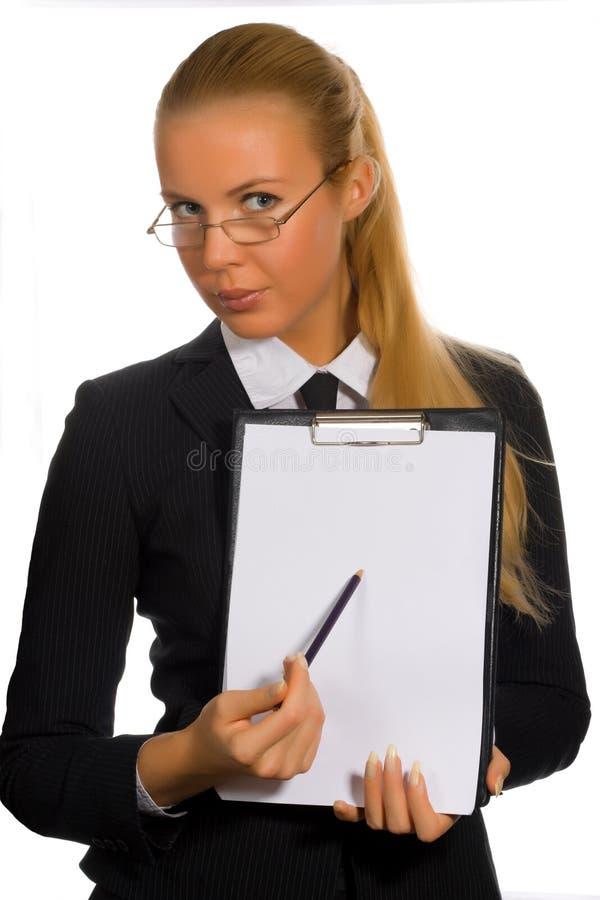 businesswoman clipboard στοκ φωτογραφίες με δικαίωμα ελεύθερης χρήσης