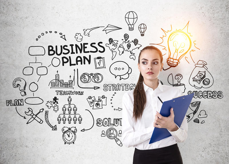 Download Businesswoman With Clipboard Stock Photo - Image: 83722253