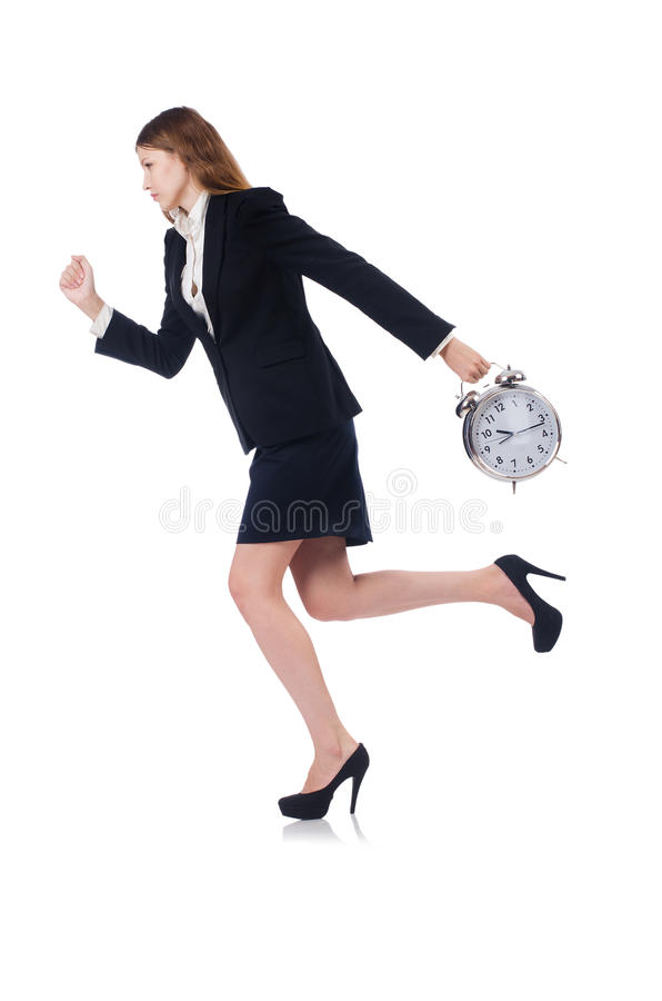 Download Businesswoman with clock stock image. Image of business - 34468785