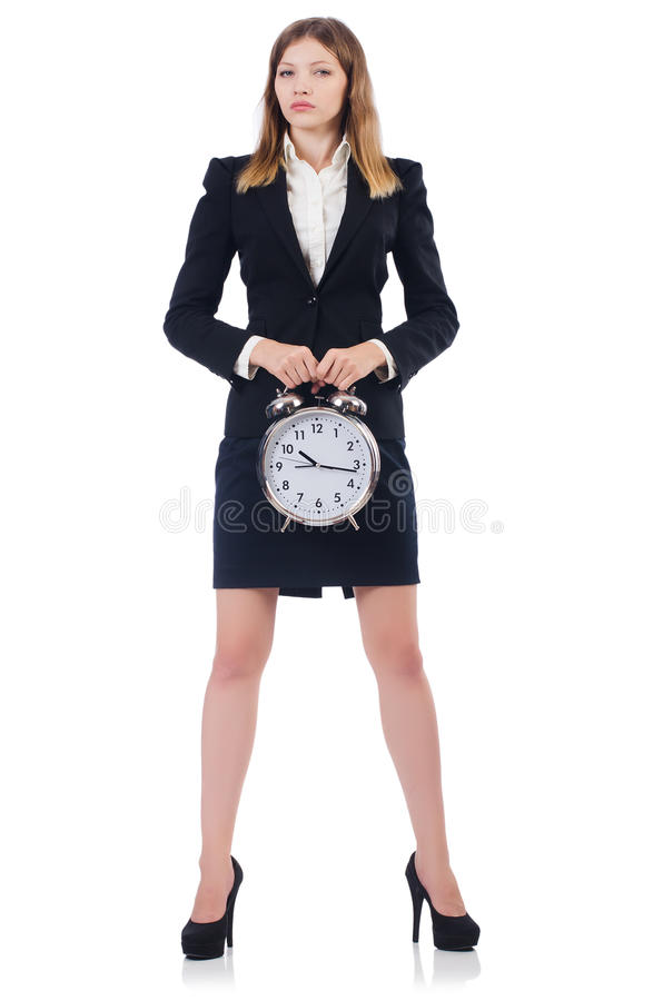 Download Businesswoman with clock stock image. Image of desk, attractive - 34468867
