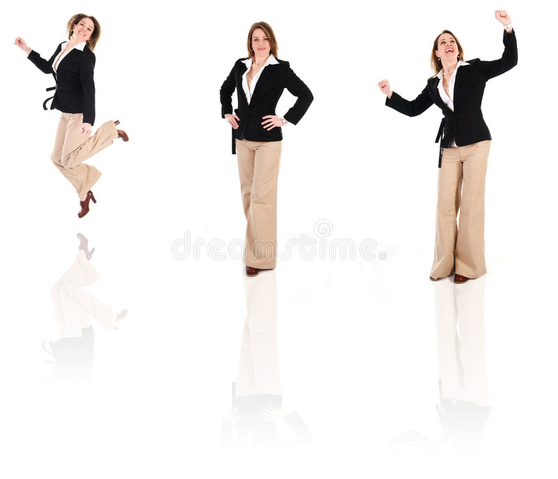 BusinessWoman Clone royalty free stock photos