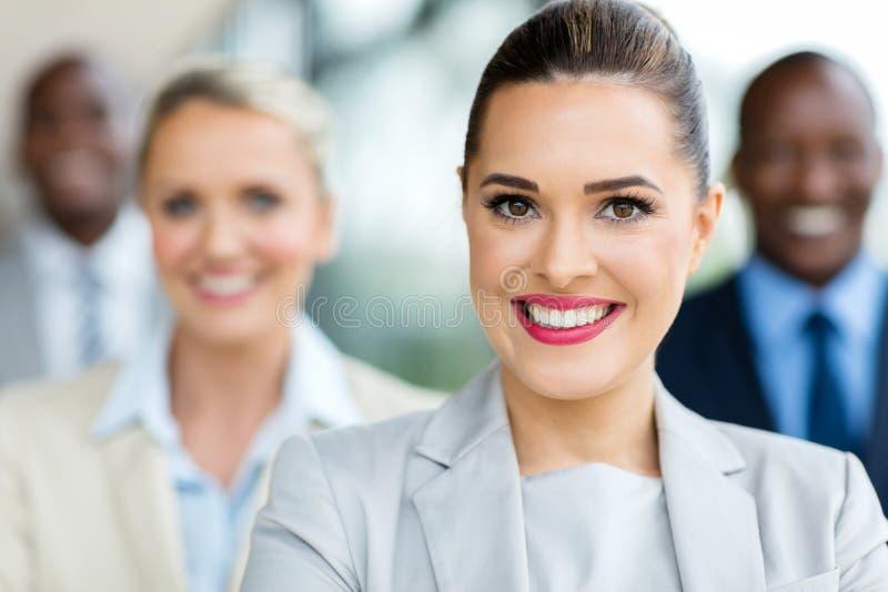 Businesswoman closeup portrait stock photos