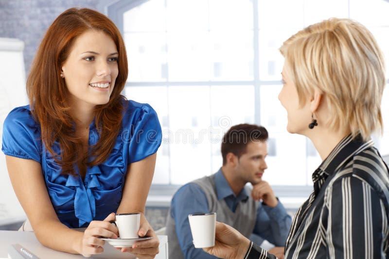 Businesswoman on coffee break royalty free stock photography
