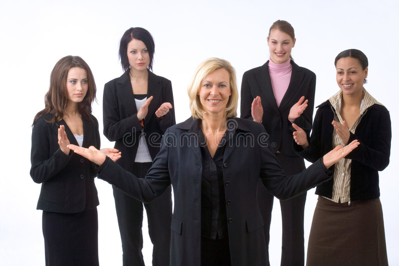 Businesswoman And Colleagues Stock Photography