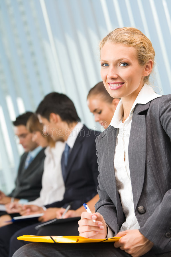 Download Businesswoman At Conference Stock Image - Image: 6370723