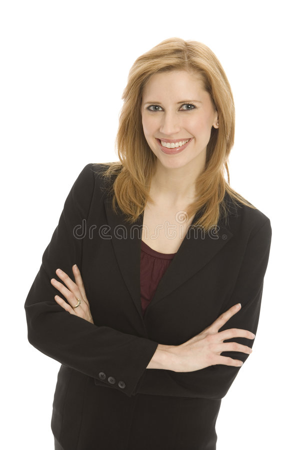 Download Businesswoman With Confidence Stock Photo - Image of fold, hair: 2385974