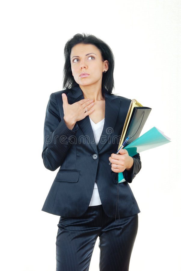 Businesswoman In Confusion Stock Photography