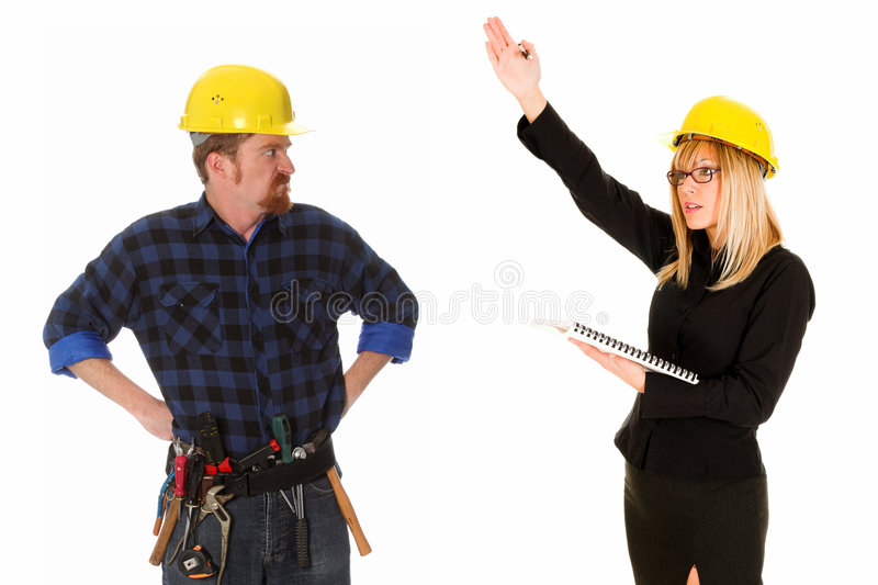 Download Businesswoman And Construction Worker Stock Image - Image: 6549307