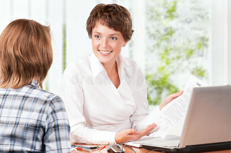 Download Businesswoman With Contract Stock Image - Image: 17113469
