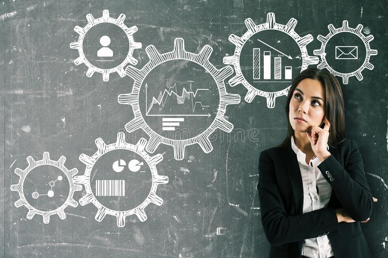 Engineering and think concept royalty free stock photo