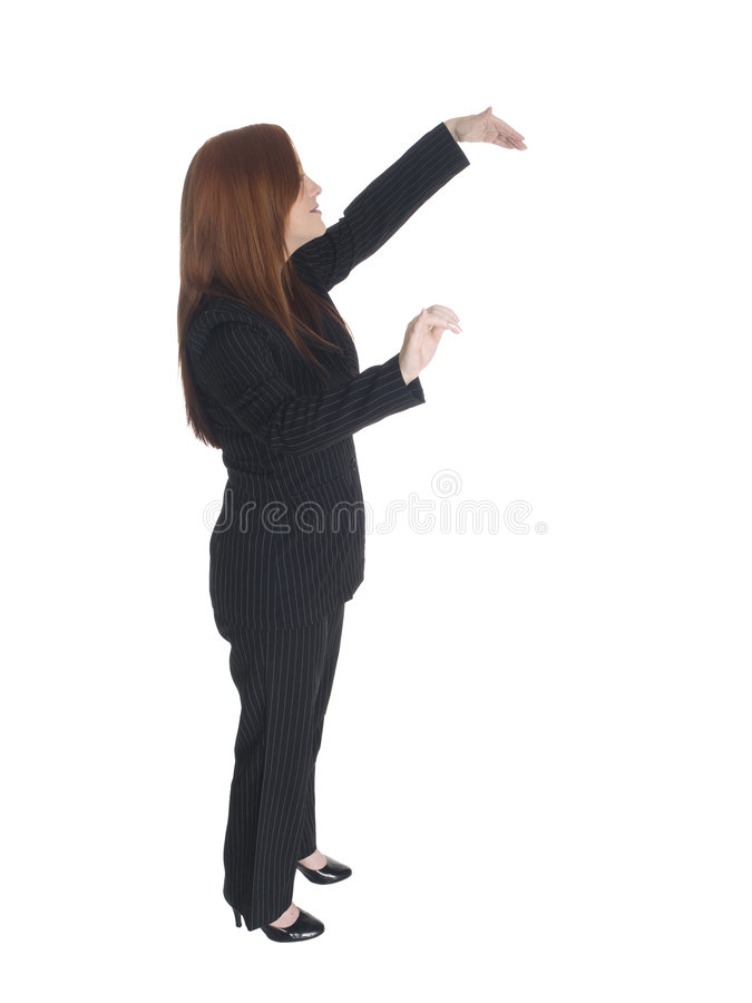Businesswoman dancing royalty free stock images