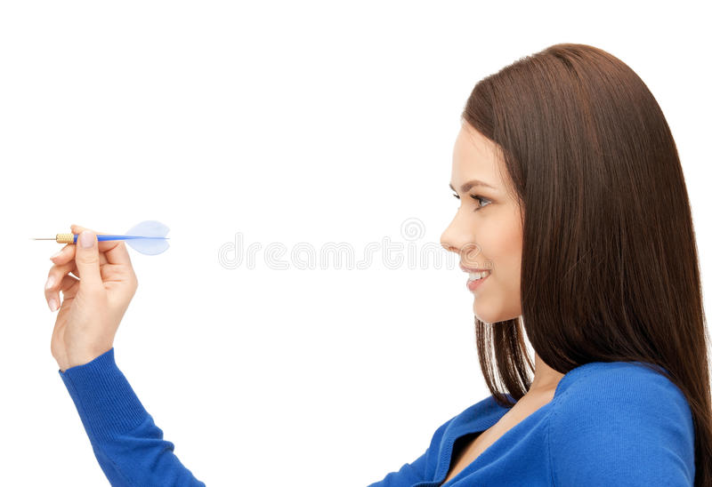 Businesswoman With Dart Royalty Free Stock Photography