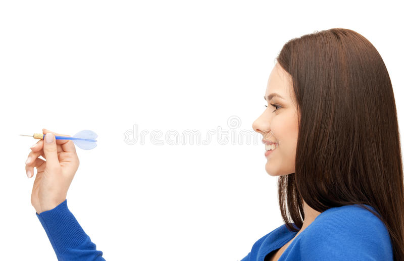 Download Businesswoman with dart stock image. Image of optimistic - 36825005