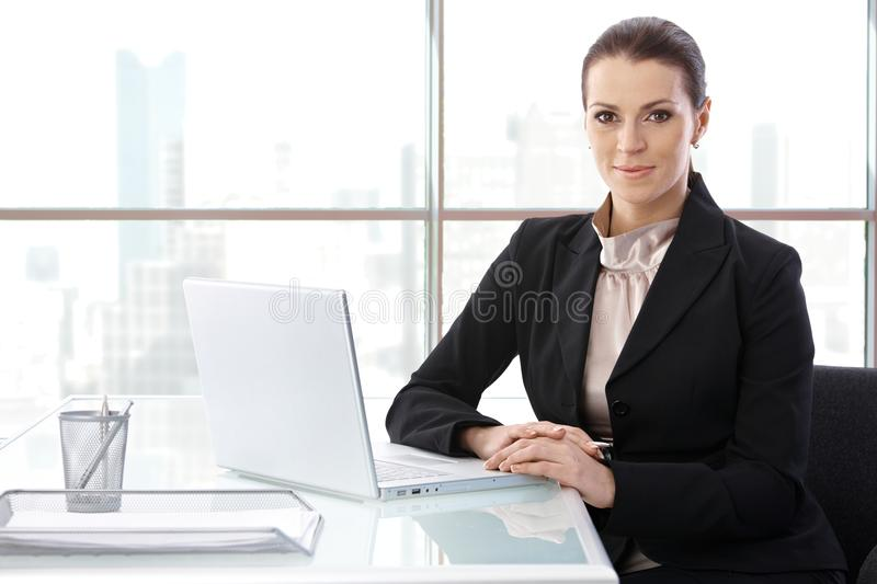 Download Businesswoman At Desk With Computer Stock Image - Image: 20444793