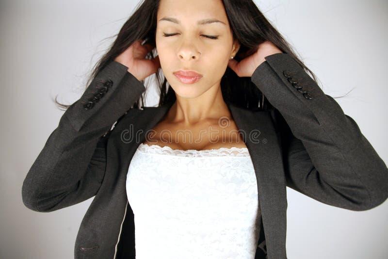 businesswoman destressing zdjęcie royalty free