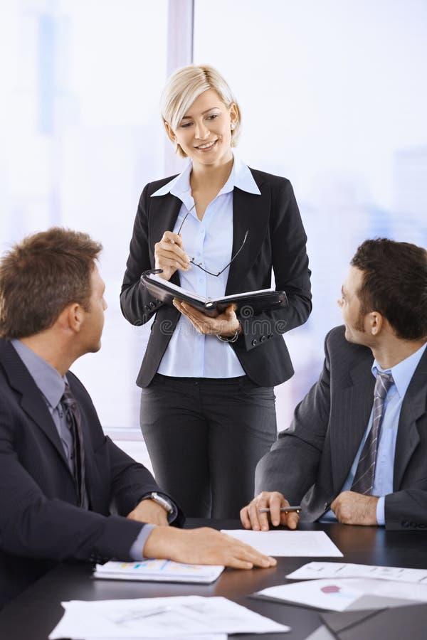 Businesswoman Doing Presentation Stock Images