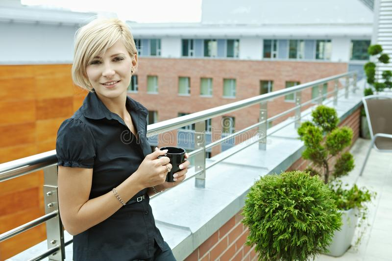 Download Businesswoman Drinking Coffee Stock Image - Image: 13211029