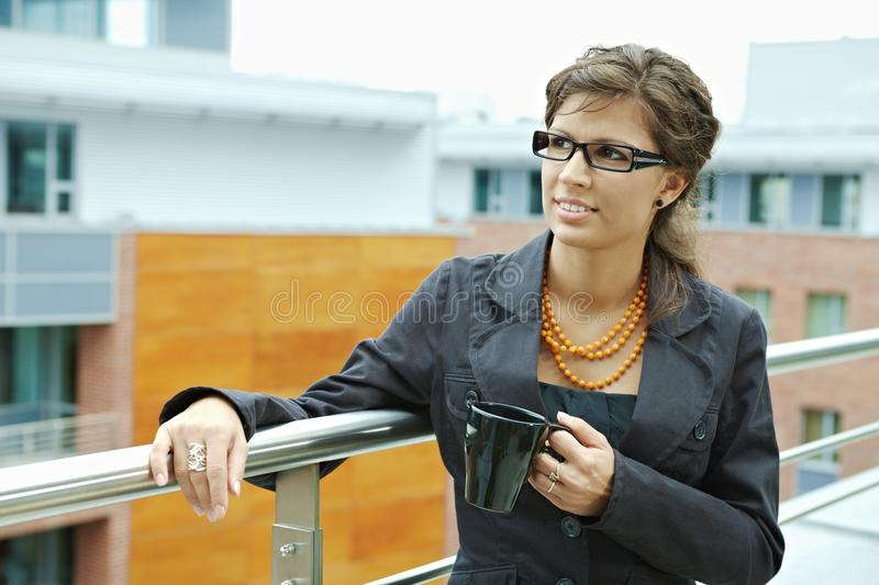 Download Businesswoman Drinking Coffee Stock Image - Image: 13287541