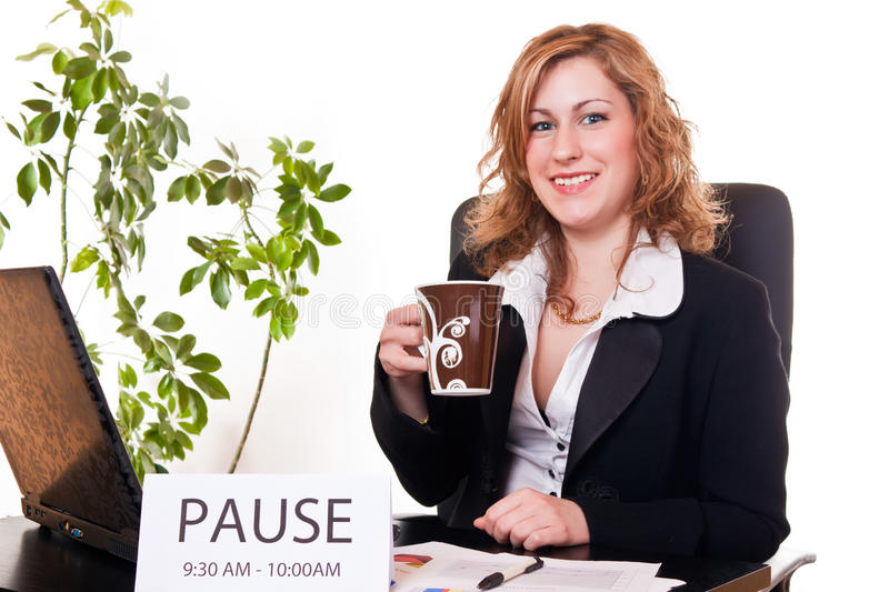 Download Businesswoman Enjoying Her Pause Stock Photo - Image: 13808206