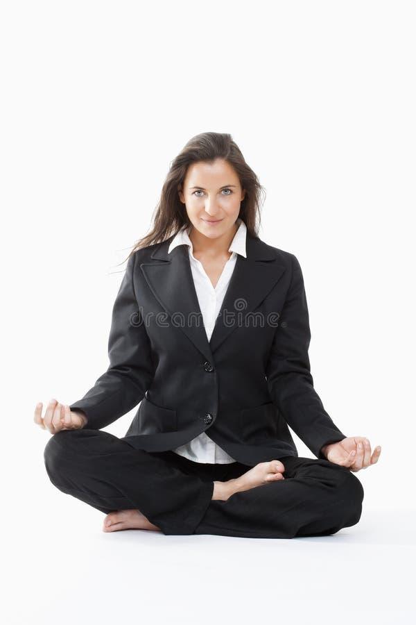 Free Businesswoman Exercising Yoga Royalty Free Stock Images - 11731419